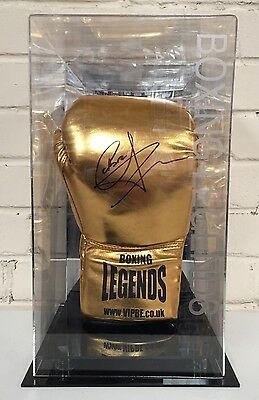Carl Froch Signed Boxing Glove In A Display Case World Champion Cobra RARE COA
