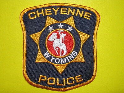 Wyoming Cheyenne Police Patch Shoulder Size*