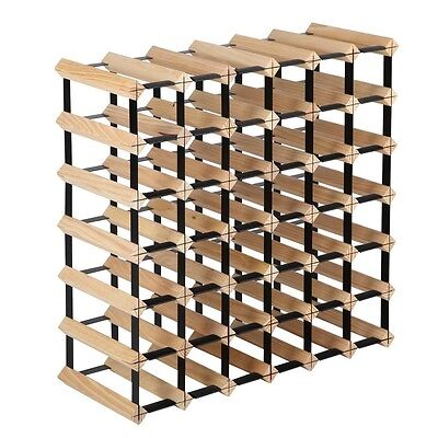 Timber Wine Rack 42 Bottles Home Decor Storage Shelving