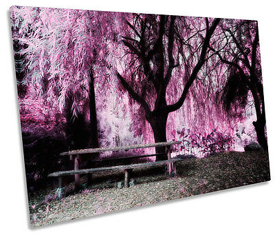 Blossom Floral Landscape SINGLE CANVAS WALL ART Picture Print
