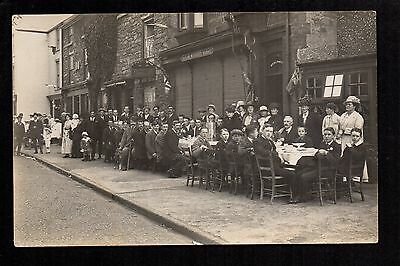Bala - Street Party - real photographic postcard