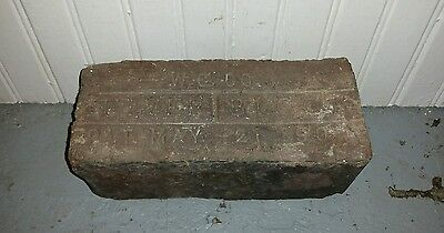 Another Reclaimed Antique Brick Paver Culver Block Pat May 21 1901 W.G. Co Indy