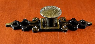 """Vintage AMEROCK Brass 4 3/4"""" Furniture Backplate & Pull """"HAMMERED"""" Must See"""