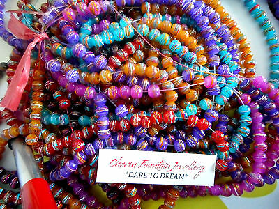 JEWELLERY WHOLESALE BULK GLASS BEADS DRAWBENCH PAINTED 6mm TO 7mm MIXED  (MW55)