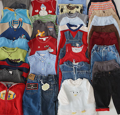 Baby Boys Size 3-6 Months Fall Clothes Lot of 32 Items L2
