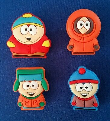 4 Pc South Park Cartman Shoe Charms Jibbitz Cake Toppers Party Favors Wristbands