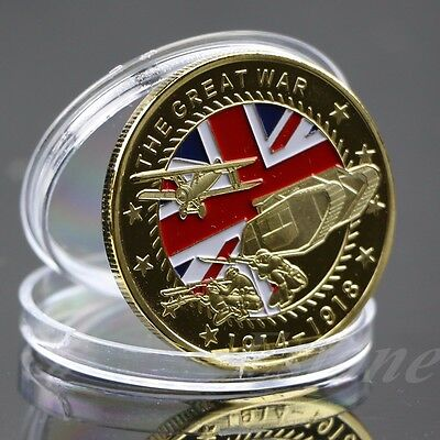 The Great War Gold Plated Commemorative Coin Art Collection Colored Collectible