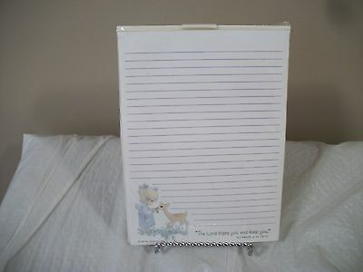 Collectible Hallmark Precious Moments Designed Tablet &Envelopes with Script NEW