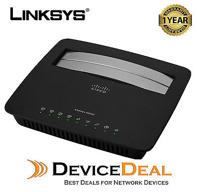 Linksys X3500 Dual-Band Wireless N750 Modem Router with ADSL2+ 3 Years Warranty
