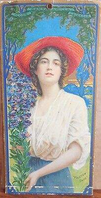 1907 Hood's Sarsaparilla Advertising Lady Calendar Halcyon Days Vivid Coloring