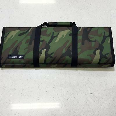 Messermeister 12pc Knife Carry Case Chef Bag Padded Roll Camouflage Cook Camo