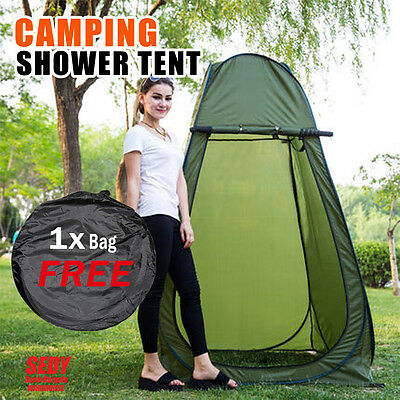 Pop Up Camping Shower Tent Toilet Ensuite Outdoor Change Changing Room Shelter