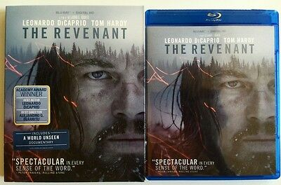 The Revenant Blu Ray + Gatefold Slipcover Sleeve Award Winner Leonard Dicaprio