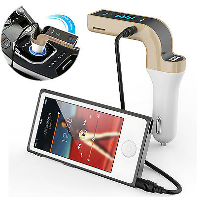 Bluetooth Handfree Car Kit Phone Music MP3 TF Card Aux-in Player FM Transmitter