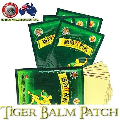 Pain Relief Patch Tiger Balm Natural & Effective Muscular & Back Pain 8 patches
