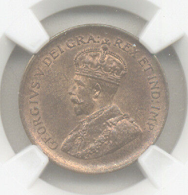 Canada 1932 1¢ Ngc Ms 65 Rb (Scarce This Nice)