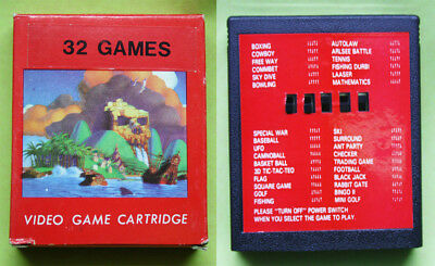 Very Rare Vintage 80'S Atari 2600 Multi Game Cartridge With 32 Games New Mib !