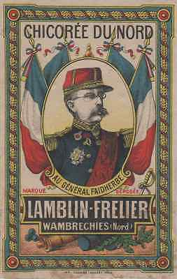 """CHICOREE DU NORD / LAMBLIN-FRELIER"" Etiquette-chromo originale fin 1800"