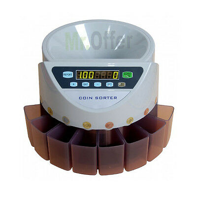 Coin counters electronic professional separate money counts coins automatic euro