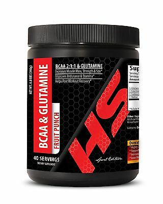 Free Shipping! - Branched Chain Amino Acids - BCAA with Glutamine - 1C 40Ct