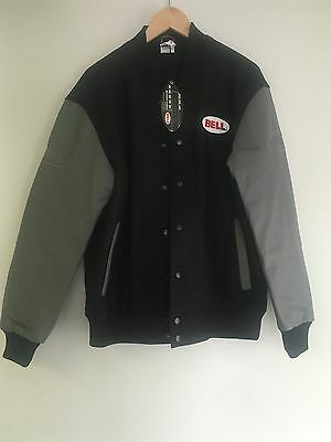 Bell Racing Varsity Jacket (Blk/w Grey Leather Sleeves) Size(s)M, L