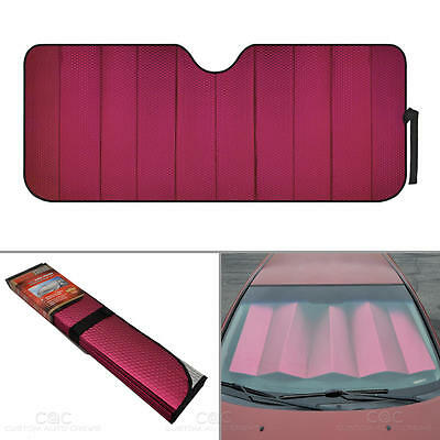 Reflective Red Foil Car Sun Shade Standard Reversible Folding Windshield Cover