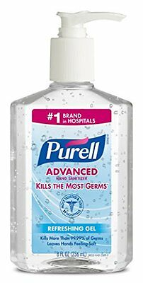 5 Pack - Purell Instant Hand Sanitizer, 8 Ounce Each