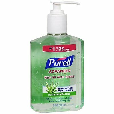 5 Pack - Purell Instant Hand Sanitizer With Refreshing Aloe, 8 Ounce Each