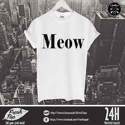 Meow T Shirt Feline Yo Go Glen Coco Celine Crazy Cat Lady Kitten Kitty Grumpy