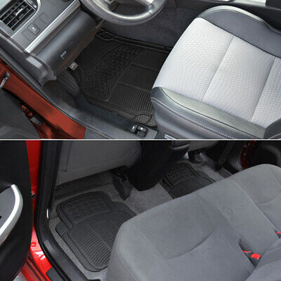 Car Floor Mats for All Weather Semi Custom Fit Heavy Duty Trimmable Black