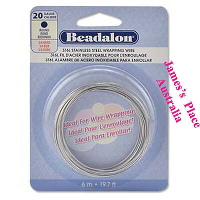 Beadalon 316L Stainless Steel Wire - different styles & gauges