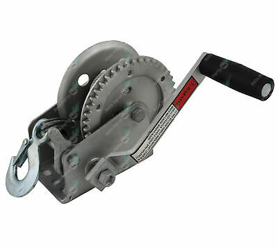 Galvanised Hand Winch for Boat Trailers 5mtr Steel Cable 540kgs/1200LBS H/DUTY