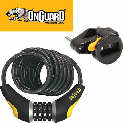 OnGuard Doberman Coil Combo Bicycle Lock 185cm x 10mm