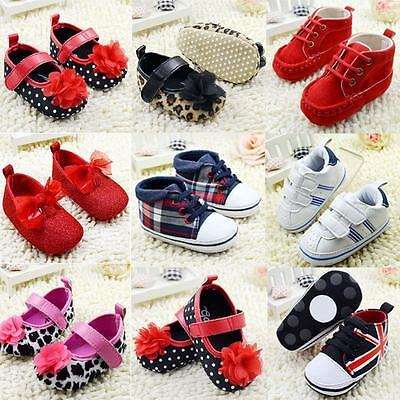 0-18 Months Casual Infant Toddler Sneakers Baby Boy Girl Soft Sole Crib Shoes