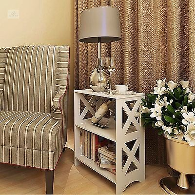 Small Side Table Living Room White Unit End Coffee Modern Bookcase Storage Stand
