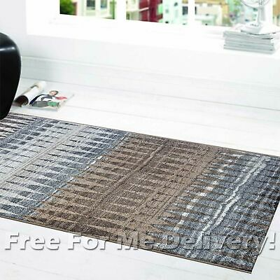 SOHO TRIBAL DIAMOND GREY BEIGE MODERN FLOOR RUG RUNNER 80x300cm **FREE DELIVERY*