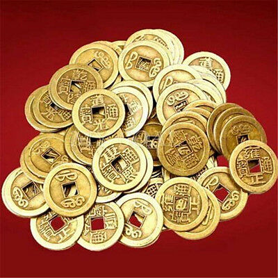FD3827 Feng Shui Lucky Chinese Fortune Coin Oriental Emperor Qing Money 10PCs♫