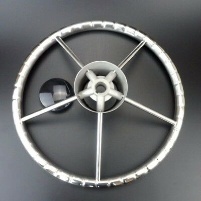 Dish 25°Boat Steering Wheel Stainless Steel Mirror Polish 5 Spoke 13-1/2'' TOP