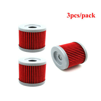 3x Oil Filter Fuel Cleaner For Sinnis Apache 125 QM125GY 125cc K157FMI