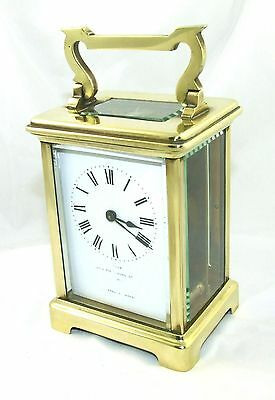 Antique Brass & Bevelled Glass Carriage Clock JAYS 142 & 144 OXFORD ST. W  (46)