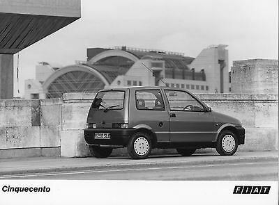 Fiat Cinquecento Press Photograph - 1992 (2)