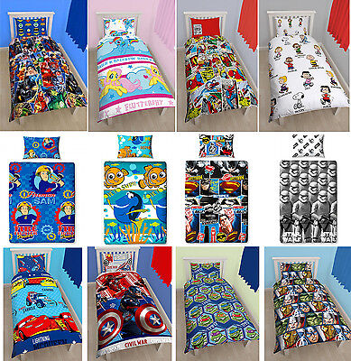 Disney & Kids Character Single Rotary Bedding Duvet Quilt Cover Brand New