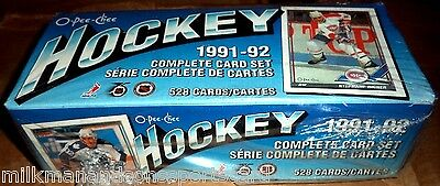 1991-92 O-PEE-CHEE HOCKEY SET factory sealed 528 HOCKEY CARDS  @ $8.95