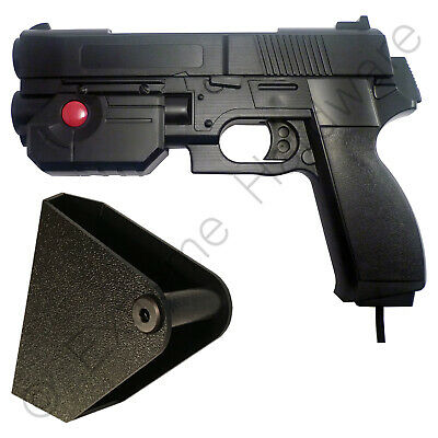 Ultimarc AimTrak Black Arcade Light Gun with Line of Sight Aiming & Side Holster