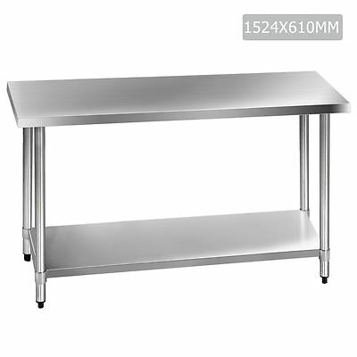 430 Stainless Steel Kitchen Work Bench Table 1524mm Shopiverse Deal