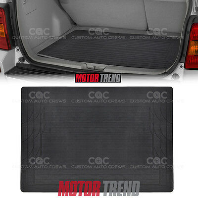 Eco Friendly Rubber Polymer Trunk Liner Cargo Mat MOTORTREND in Black