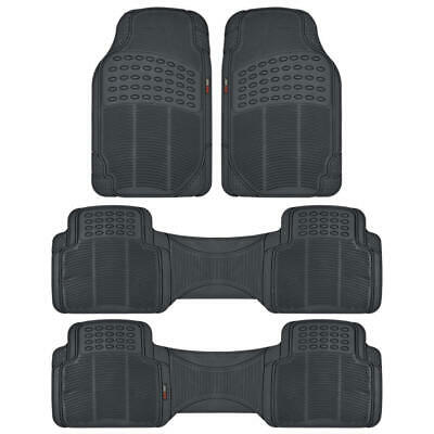 BPA Free Non-Toxic Eco Friendly Rubber Floor Mats in Black by Motor Trend