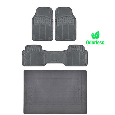 BPA Free Non-Toxic Eco Friendly Rubber Floor Mats in Gray by Motor Trend