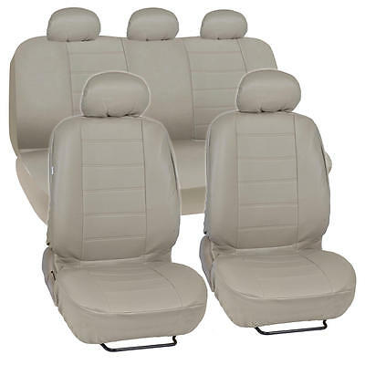 ProSyn Beige Leather Auto Seat Cover for Honda Accord Sedan, Coupe Full Set