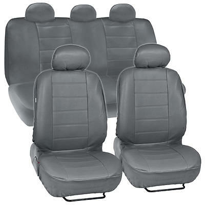 ProSyn Gray Leather Auto Seat Cover for Ford Fusion Full Set Car Cover